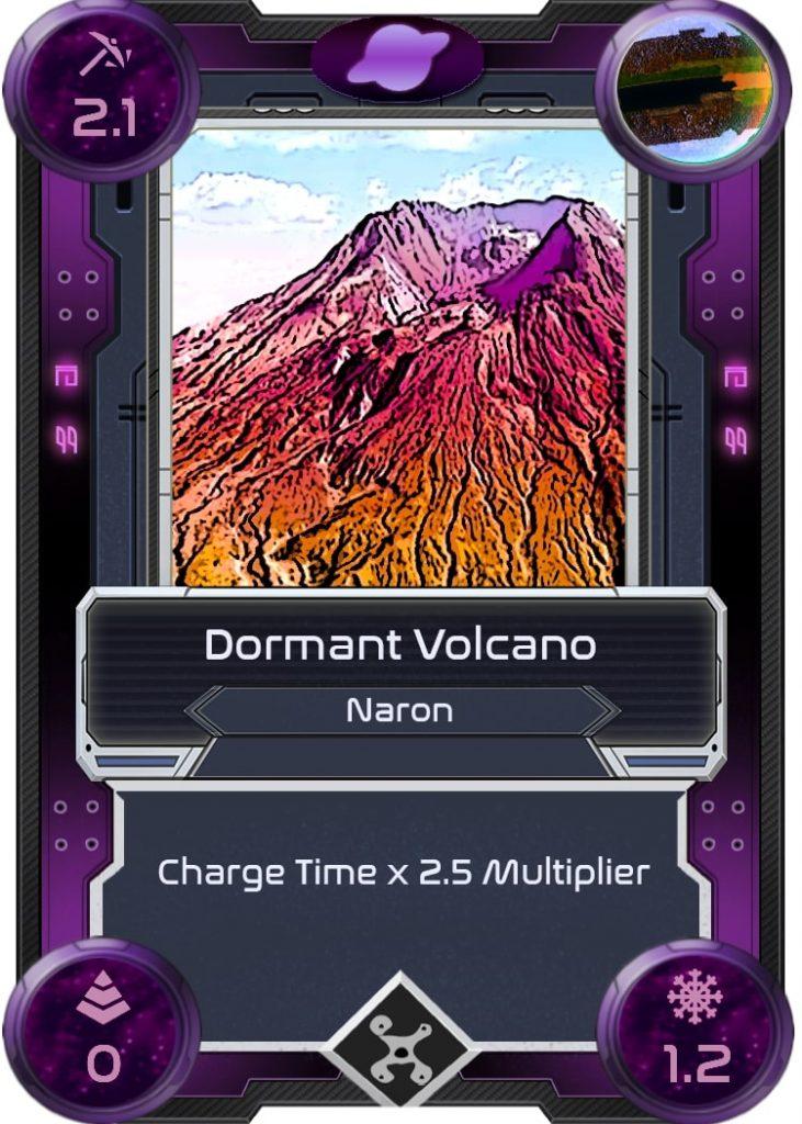 Volcán inactivo de Alien Worlds